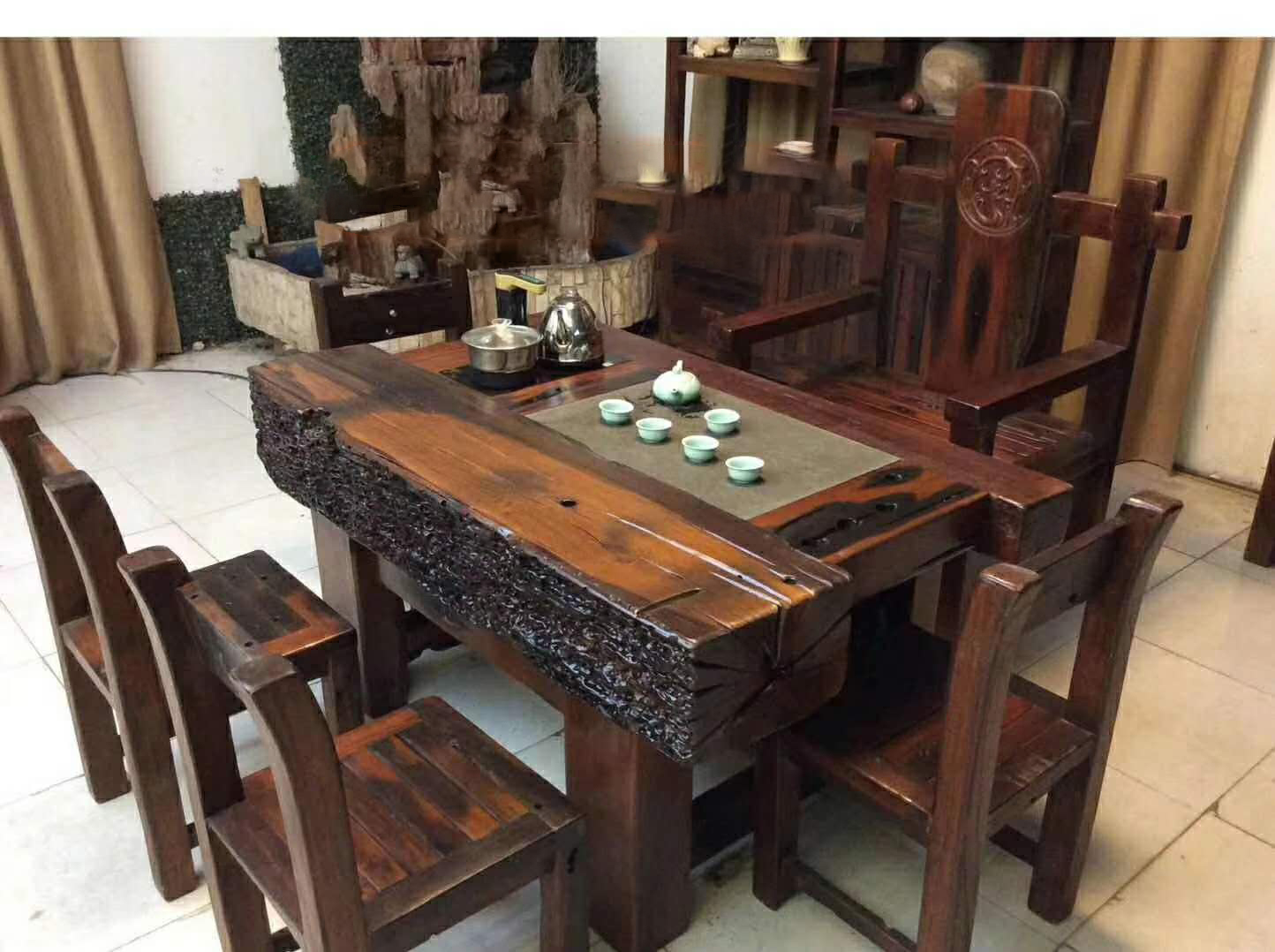老船木茶桌(四)